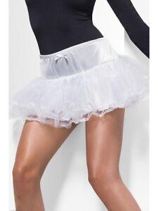 Mujer-Enaguas-Blanco-Tul-Enaguas-Accesorio-de-disfraz-talla-unica