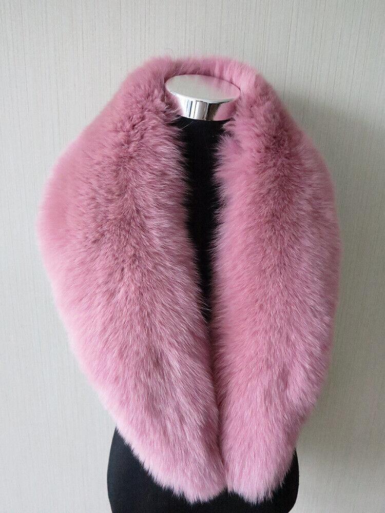 Real fox fur collar/ wrap /scarf pink collar women jack
