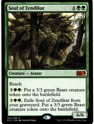 MTG 1x SOUL OF ZENDIKAR M15 *Myth Avatar NM*