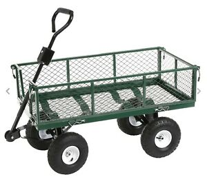 Heavy Duty Steel Waterproof Festival Cart Camping Truck Garden Trolley 350Kg