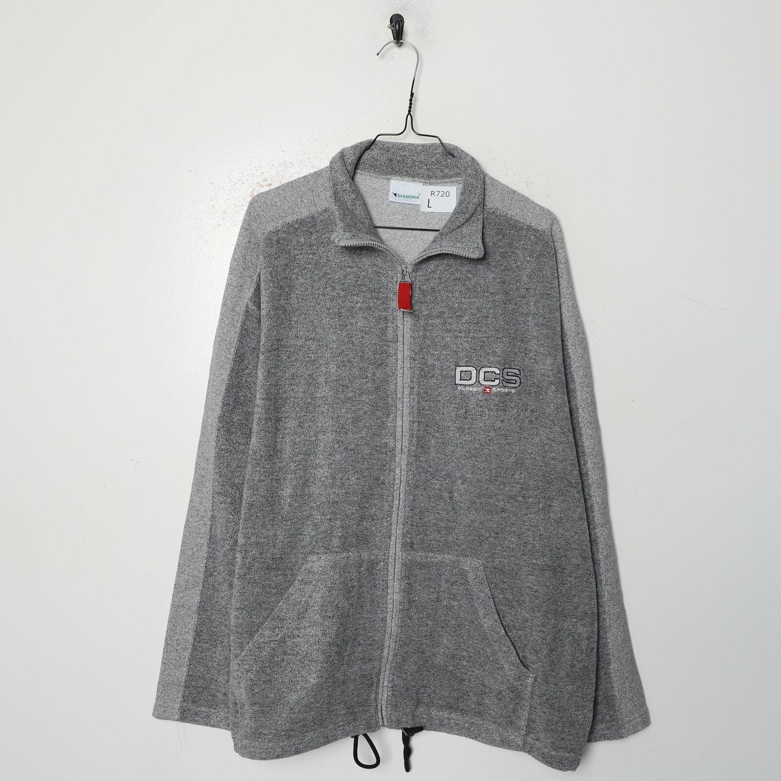 DIADORA Zip Up Fleece Top Grey | Large L