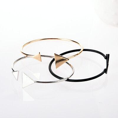 Ethnic Open Bangle Cuff Bracelet Boho Triangle Wristband Jewelry Gift Fashion