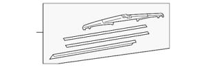 Genuine Toyota Wiper Blade 85242-0T011