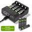 miniatuur 1 - Rechargeable High Capacity AAA Batteries plus Charging Dock - Includes 8 x AAA