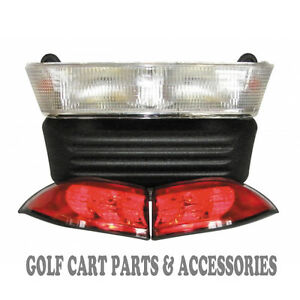 Club Car Precedent Golf Cart Headlight & Tail Light Kit (Electric 2004- 2008.5)