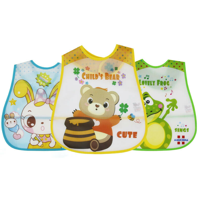 Infant Kids Baby Bibs Waterproof Saliva Pocket Bib Feeding F