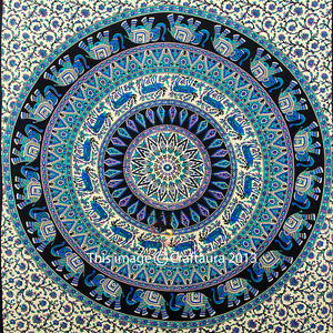 How To Hang A Tapestry On The Wall indian elephant mandala tapestry wall hanging hippie tapestries