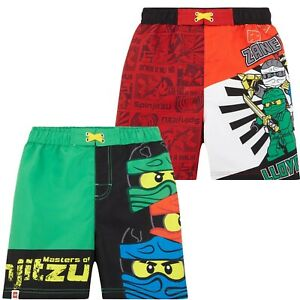 dcb0fa6f44 Image is loading Lego-Ninjago-Boys-Swimming-Trunks-Shorts-Costume-Bottoms-