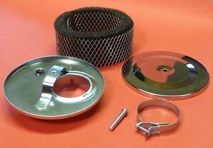 VW-Kaefer-Sportluftfilter-Luftfilter-13-5cm-mit-TOP-SOUND-034-CHROM-034-045-9087