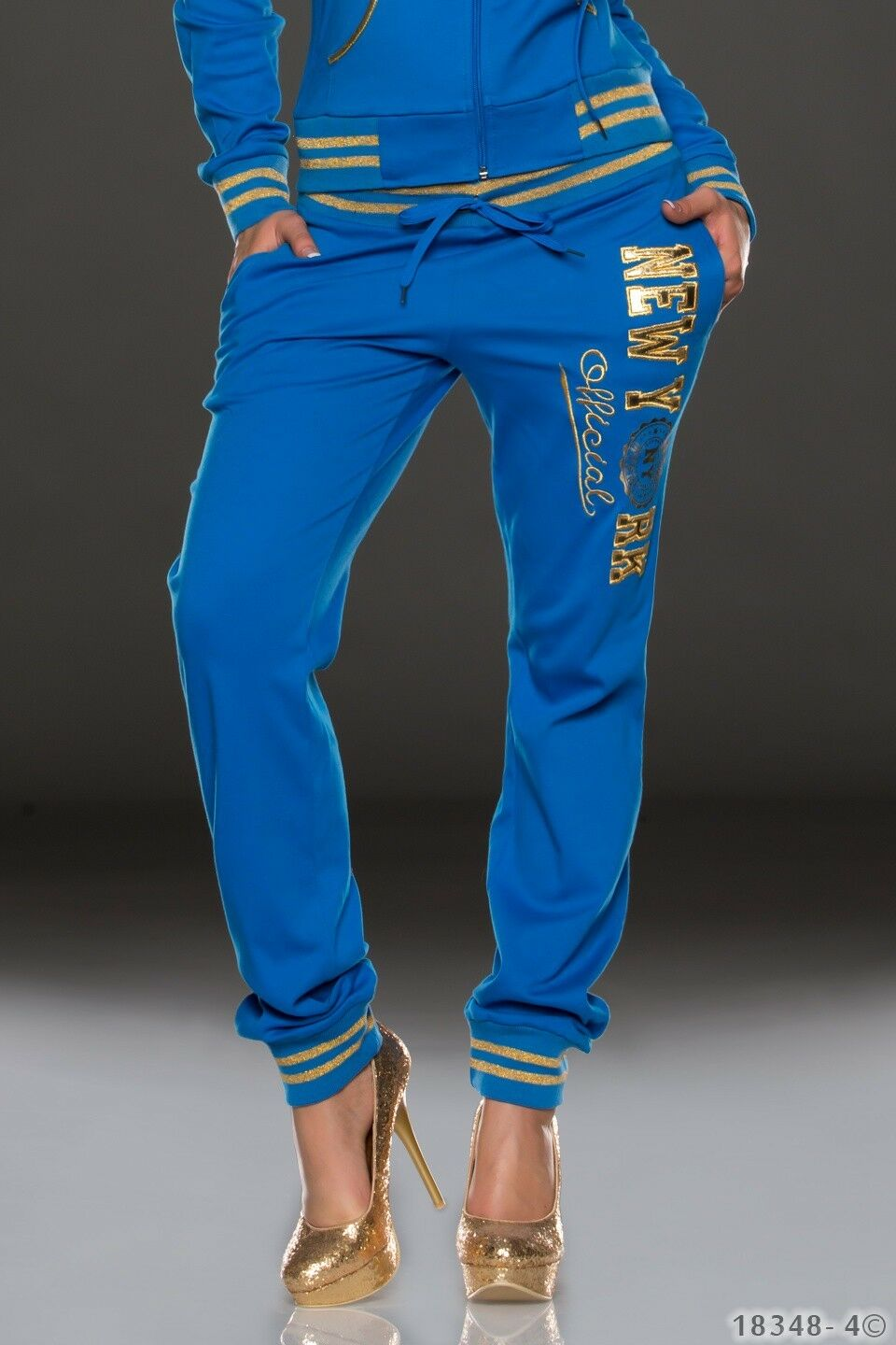 NEW SEXY New York Cotton Sweat Pants with gold Writing College SIZE 6 8 10 12 14