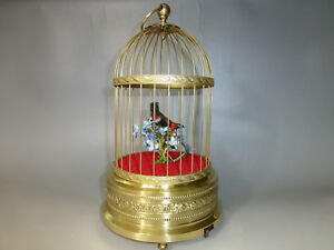 The Best Antique Singing Bird Cage With 2 Birds By Karl Griesbaum And To Have A Long Life. Antiques