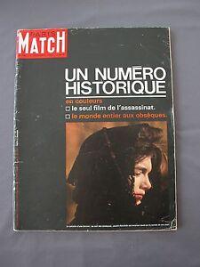 PARIS-MATCH-765-7-12-1963-MORT-DE-KENNEDY-assassinat-obseques-NUMERO-HISTORIQUE