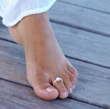 Gorgeous Pearl Beach Boho Toe Rings Ring Wedding Bridal Adjustable Size