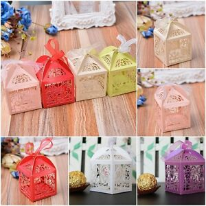 50-Wedding-Party-Favor-Love-Bird-Box-Cute-craft-Paper-Party-Gift-Cake-Candy-UK