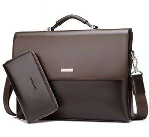 New-Classic-Business-Mens-Leather-Briefcase-Bag-Handbag-Laptop-Shoulder-Bags