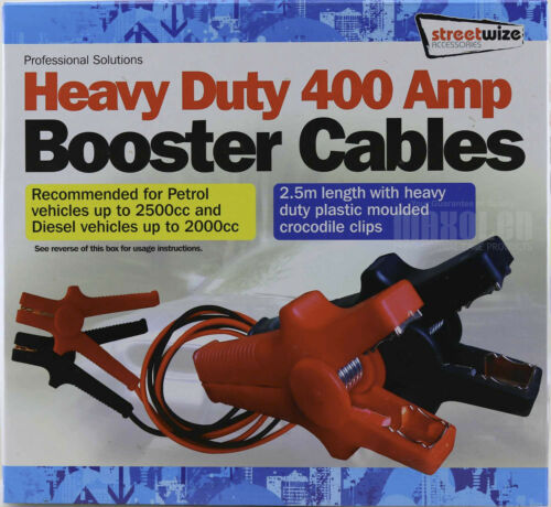 Jump Leads 400 Amp Engines up to 2500cc Streetwize Heavy Duty Booster Cables