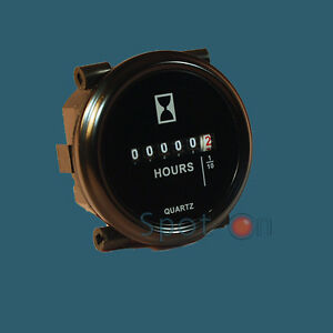 Hour-Meter-6-to-80-Volts-DC-Black-Trim-Ring-2-034-ROUND