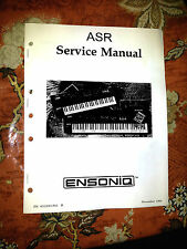 ENSONIQ ASR-10 ASR10 SYNTH SAMPLER  REPAIR / SERVICE MANUAL [book only]