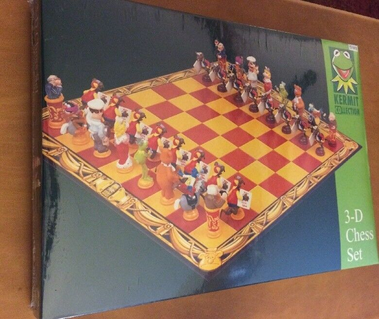 The Muppets Kermit Collection 3-D Chess Set SEALED   n ° 1 online