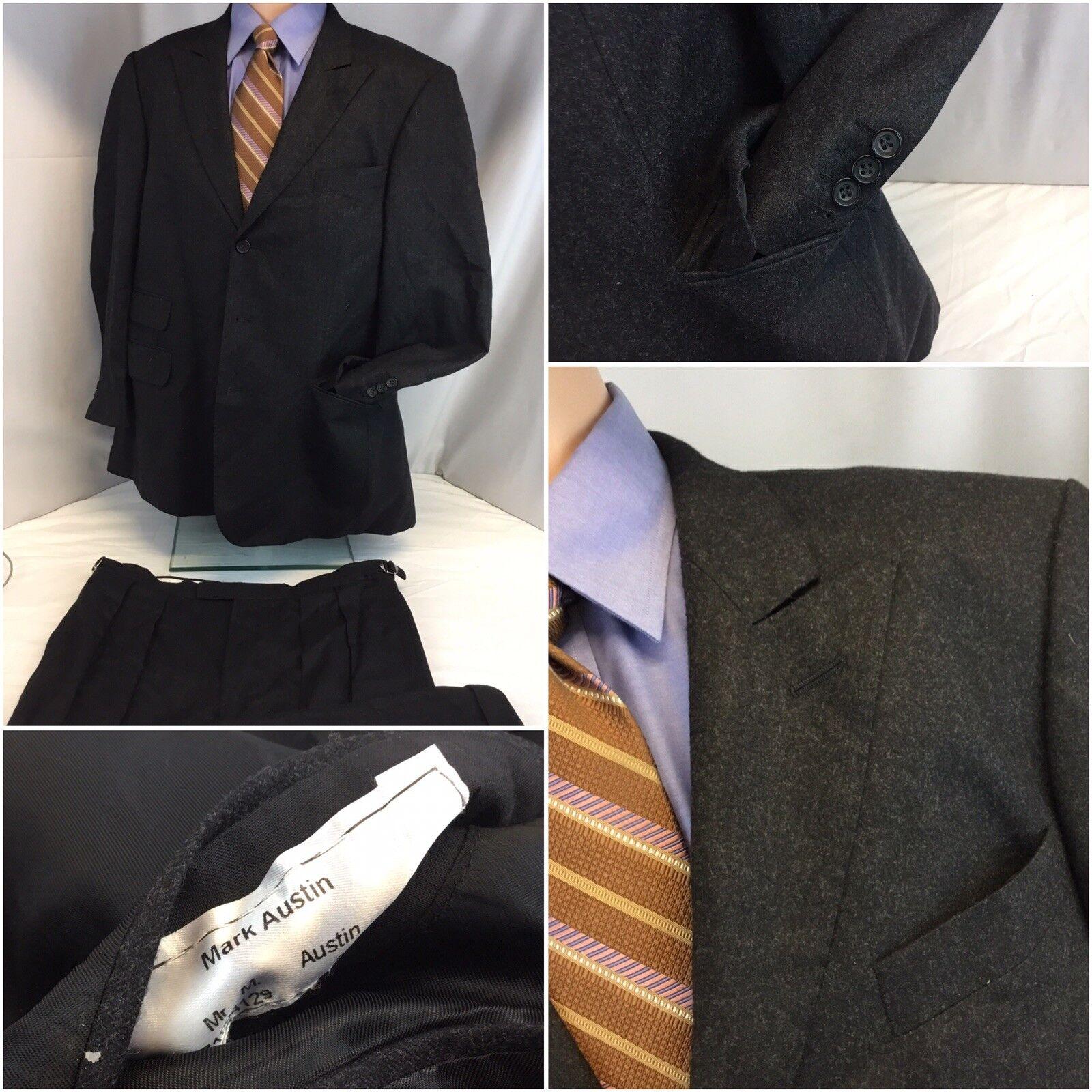Mark Austin Bespoke Suit 44R grau 3b 2v Func Cuffs 36x30 44 R Mint YGI J8-462