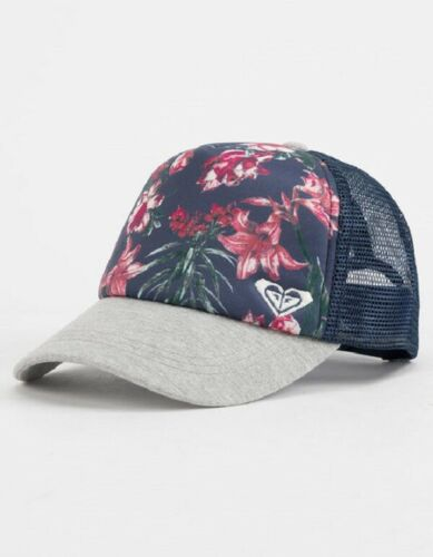 New Roxy Girl/'s 7-14 Mesh Back Trucker Hat Curved Brim Adjustable Cap One Size
