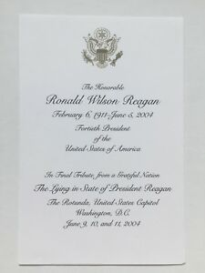 2004-President-Ronald-Wilson-Reagan-U-S-Capitol-Lying-in-State-Funeral-Card