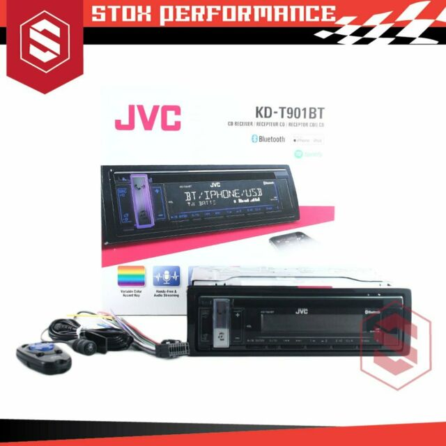 JVC KD-T901BT Single-Din USB AUX Bluetooth CD Android Playback Car Stereo