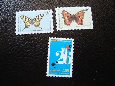 col1 Contemplative Andorra - Stamp Yvert/tellier N° 451 A 453 N Mnh french a