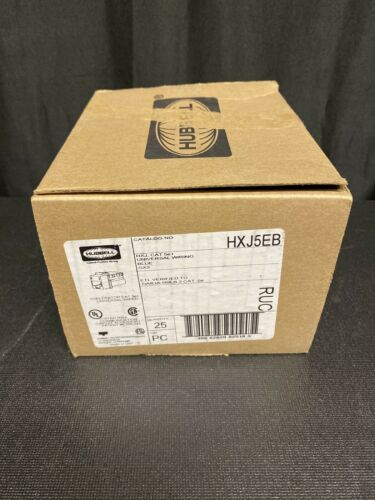 UNIV WIRED *NEW IN A FACTORY BOX* Box Of 25 HUBBELL HXJ5-EB XCELERATOR CAT5E