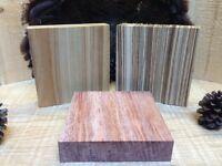 3-turkey Pot Call Turning Blanks Premium Zebrawood-bubinga-canary Wood