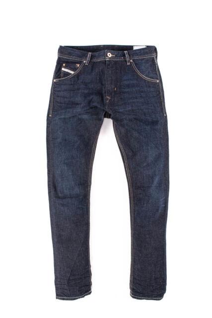 7c7a3421 MEN'S DIESEL KRAYVER WASH 0823K Regular Slim Carrot Jeans Denim W29 L32