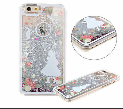Dynamic Liquid Glitter Quicksand 3D Pattern Hard Case Cover For iPhone