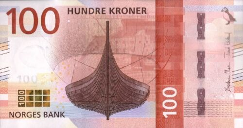 UNC NORWAY 100 KRONER P-NEW 2017 2016