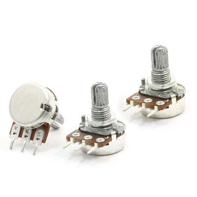 3pcs 6mm Shaft 3 Pin Pots Rotary Taper Adjustment Potentiometer 5K ohm S7P8 D4L1