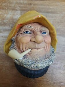 Vintage Bossons Old Salt Chalkware Head Made in England 1971