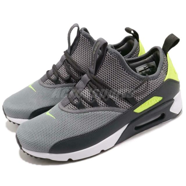 huge selection of 58bbc 3f9ff Nike Air Max 90 EZ Dark Grey Volt White Men Running Shoes Sneakers AO1745 -003