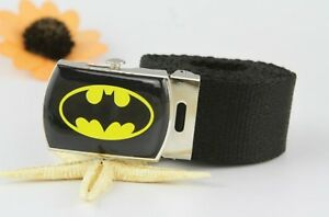 Children-Kids-Boys-Black-Batman-Sports-Super-Hero-Casual-Canvas-Pants-Belt