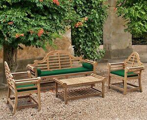 Admirable Details About Lutyens Teak Garden Furniture Set 1X Bench 1 95M 2X Armchairs 1X Coffee Table Cjindustries Chair Design For Home Cjindustriesco