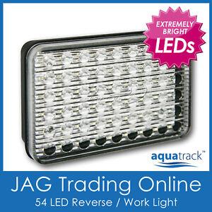 10-30V 54-LED WHITE REVERSE LIGHT - Boat/Trailer/Truck/Caravan/Ute/RV/Work Lamp