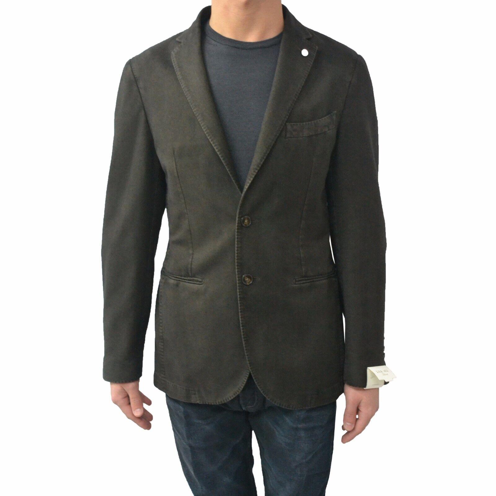 L.B.M 1911 veste pour hommes non doublée hiver spinata coupe brune normale