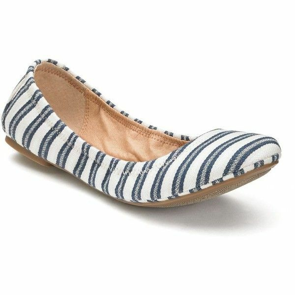 937f03ab9780 Sonoma Goods for Life Women s Scrunch Ballet Flats Color Blue Stripe ...
