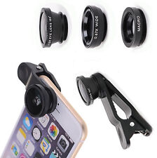 Fish Eye 3 In1 Wide Angle Macro Telephoto Lens Camera for iPhone 6 Plus 5 5s 5c