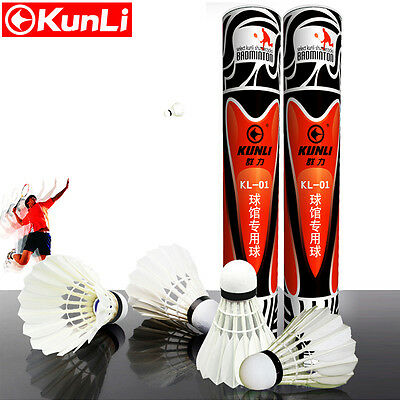 2 Dozen Kunli Kl-01 Duck Feather Durable Badminton Shuttlecocks For Tournament Sport