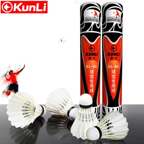 2 Dozen Kunli KL-01 Duck Feather Durable Badminton Shuttlecocks for Tournament