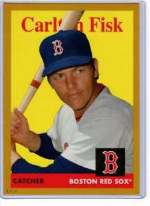 Carlton-Fisk-2019-Topps-Archives-5x7-Gold-15-10-Red-Sox