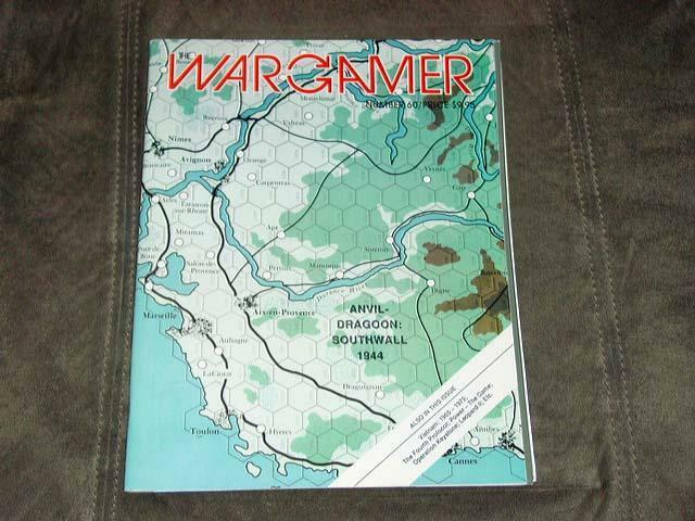 WARGAMER  60 - Anvil game   Dragoon Southwall 1944 game (UNPUNCHED)