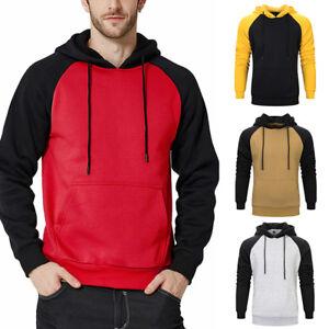 Men-039-s-Winter-Hoodies-Slim-Fit-Hooded-Sweatshirt-Outwear-Sweater-Warm-Jacket-Coat