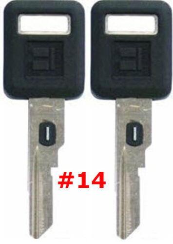2 NEW GM Single Sided VATS Ignition Key #14 UNCUT V.A.T.S B62-P14 MADE IN USA
