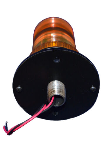 "B1L12T 3//4/"" NPT 12V DC LED STEADY-ON BEACON  EMERGENCY SAFETY LIGHT PIPE MOUNT"