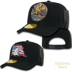 1 Dozen Usa Mexico Eagle Curve Bill 6panel Baseball Snapback Caps